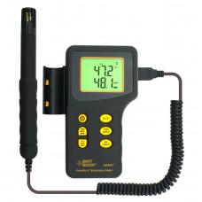 Цифровой влагомер c термометром AR847
